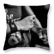 Wrapping Hands Throw Pillow