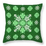 Wrapping Wallpaper Floral Seamless Tile For Website Vector, Repeating Foliage Outline Floral Western Throw Pillow
