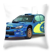 Wrc Racing Throw Pillow