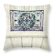 Wreath And Stone Throw Pillow
