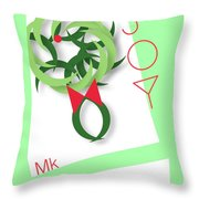 Wreath Throw Pillow