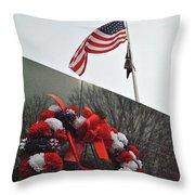 Wreath Of The Korean War Throw Pillow