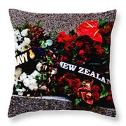 Wreaths From New Zealand And Our Navy Throw Pillow