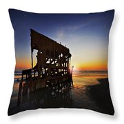 Wreck Of The Peter Iredale-b Throw Pillow