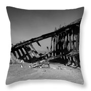 Wreck Of The Peter Iredale Throw Pillow