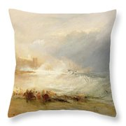 Wreckers - Coast Of Northumberland Throw Pillow