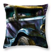 Wrecking Yard Fantasy Throw Pillow