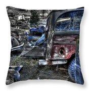 Wrecking Yard Study 13 Throw Pillow
