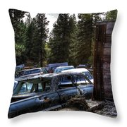 Wrecking Yard Study 22 Throw Pillow