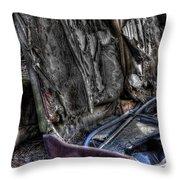 Wrecking Yard Study 7 Throw Pillow