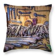 Wrenches Galore Throw Pillow