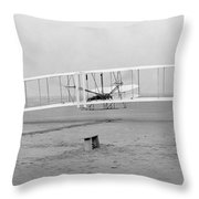 Wright Brothers, 1903 Throw Pillow