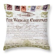 Wright Brothers, 1915 Throw Pillow