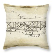 Wright Brothers Flying Machine Patent 1903 Throw Pillow