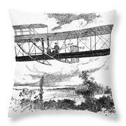 Wright Brothers Plane Throw Pillow
