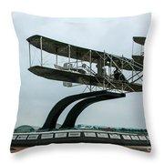 Wright Flyer Memorial Throw Pillow