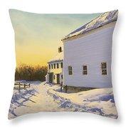 Wright-locke Farm And Squash House Throw Pillow