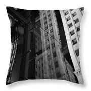 Wrigley Building Reflections Throw Pillow