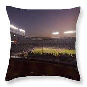 Wrigley Field At Dusk 2 Throw Pillow