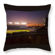 Wrigley Field At Dusk Throw Pillow