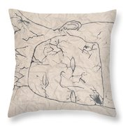 Wrinkled Masterpiece  Throw Pillow