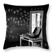 Writers Station Throw Pillow