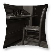 Writing Desk Throw Pillow
