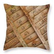 Writings On Wood Throw Pillow