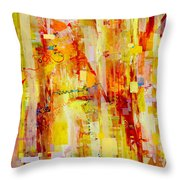 Written In Particles And Waves Throw Pillow