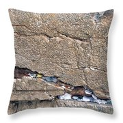 Written Prayers Western Wall Throw Pillow