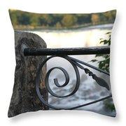 Wrought Iron At Niagara Falls Throw Pillow