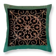 Wrought Iron Circle Throw Pillow