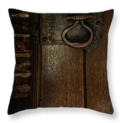 Wrought Iron Door Latch Throw Pillow