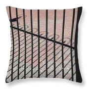 Wrought-iron Gate And Shadows Throw Pillow