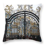 Wrought Iron Gate Throw Pillow