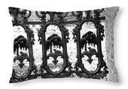 Wrought Iron Gate -west Epping Nh Usa Throw Pillow