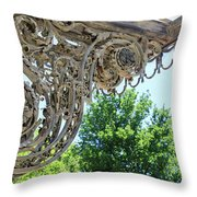 Wrought Iron Scroll Throw Pillow