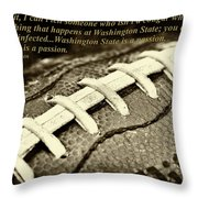 Wsu Cougar Quote Throw Pillow