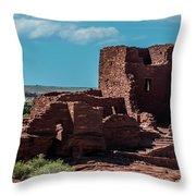 Wukoki Pueblo Ruins Wupatki National Monument Throw Pillow