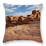 Wukoki Rock Swirl Throw Pillow