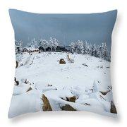 Wurmberg, Harz Mountains Throw Pillow