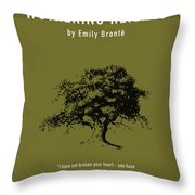 Wuthering Heights Greatest Books Ever Series 017 Throw Pillow