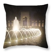 Ww 2 Memorial Fountain Throw Pillow