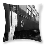 Ww I: Red Cross Railroad Throw Pillow