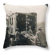 Ww I: Wounded/medics Throw Pillow