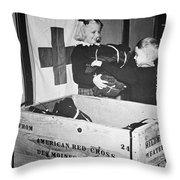 Ww II: Red Cross, C1942-43 Throw Pillow