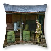 Ww2 American Medic Throw Pillow