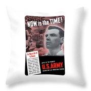 Ww2 Army Recruiting Poster Throw Pillow