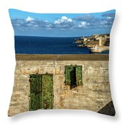 Ww2 Fortification Door Throw Pillow