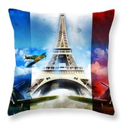 Ww2 France Throw Pillow